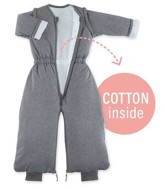 Bemini 9-24 months winter sleeping paddy jersey Pingu gray