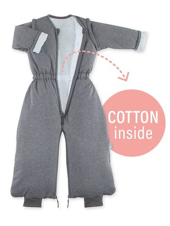 Bemini 9-24 mnd winterslaapzak pady jersey Pingu grijs