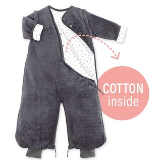 Bemini 3-9 mnd winterslaapzak Softy Cotton Donker Grijs