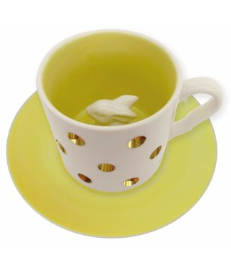 House of Disaster Spotty Bunny set Cup and Saucer