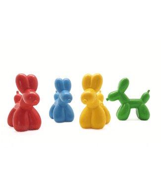 Bitten Design Ballon Dog Crayons set van vier vetkrijt hondjes