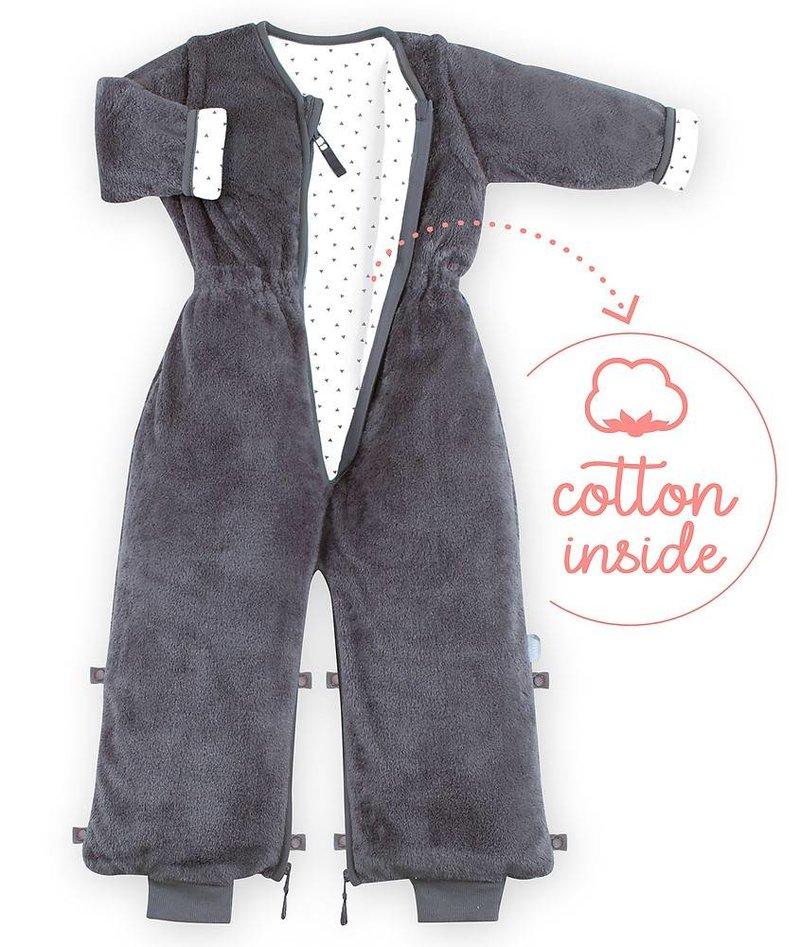Bemini 18-36 mnd winterslaapzak Softy Jersey Pingu Donker Grijs