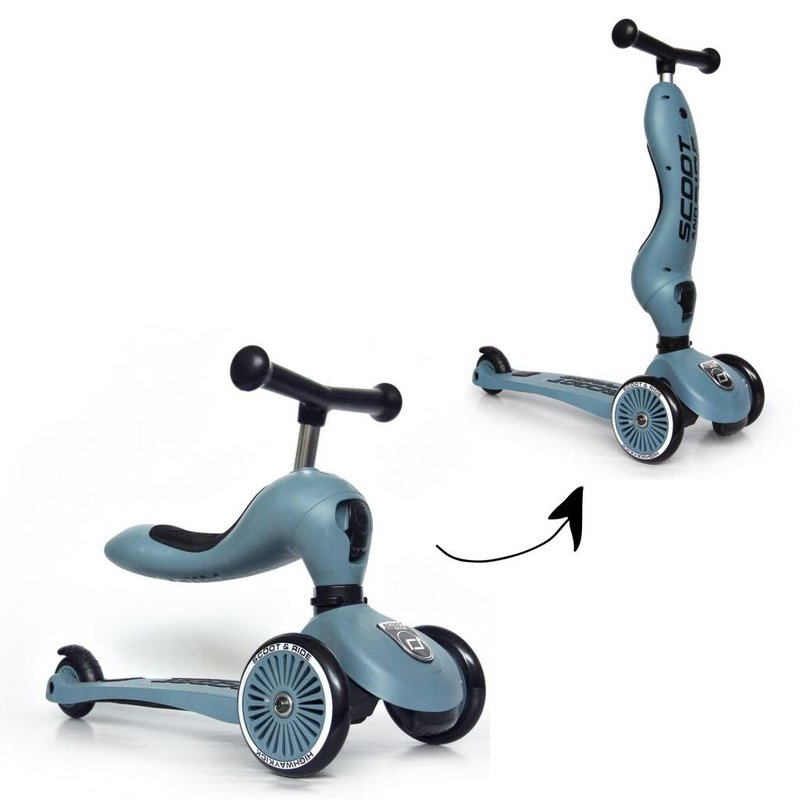 Scoot and Ride Highwaykick 1 Steel loopfiets en step in één -