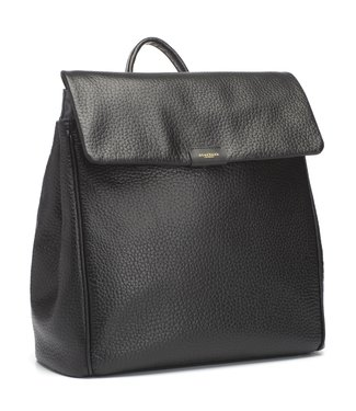 Storksak St. James leather diaper bag / backpack Black