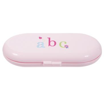 roze manicureset ABC -