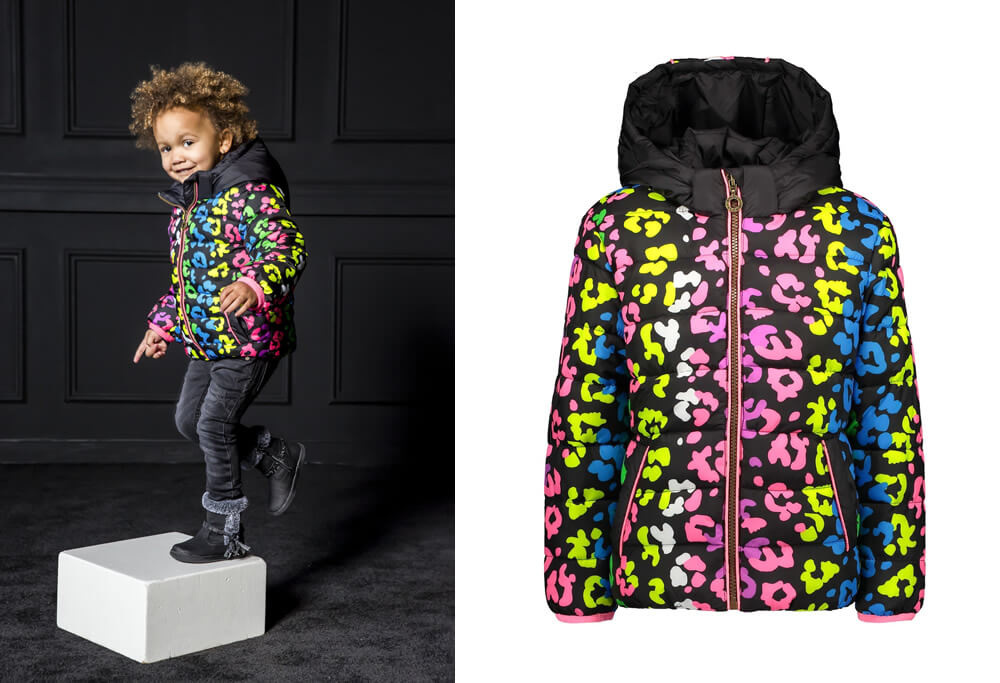 B.Nosy winter jacket leopard print multi color