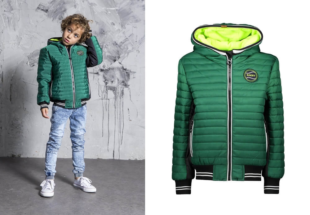 B.Nosy winter jacket green boys