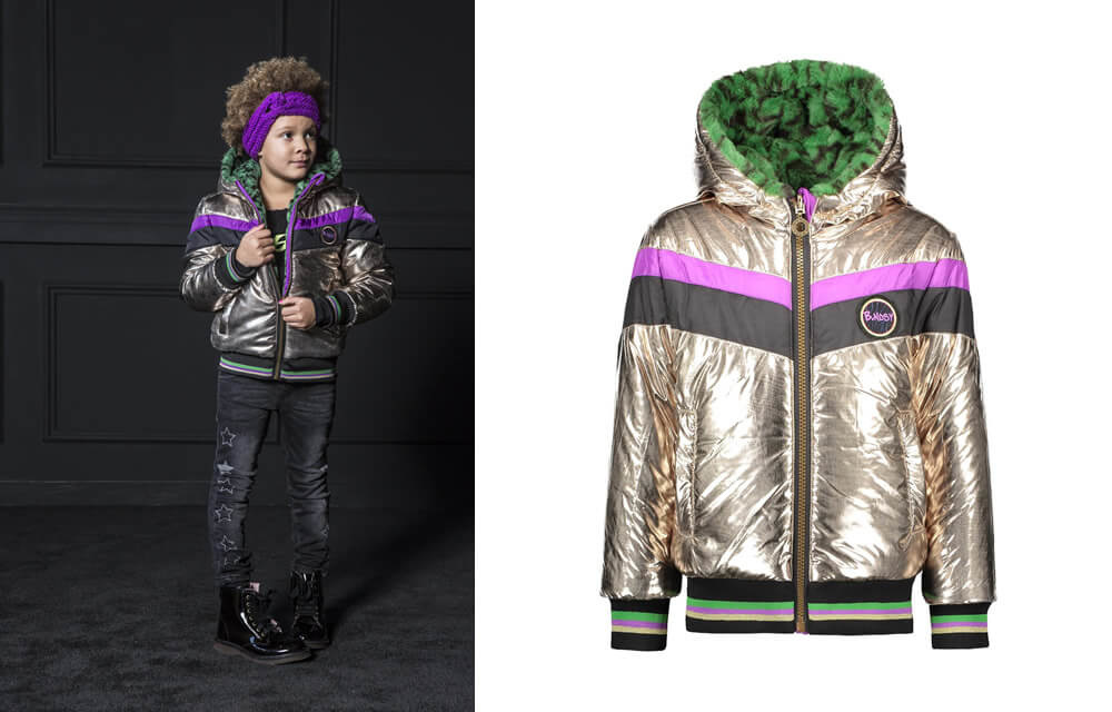 B.Nosy reversible metallic winter jacket
