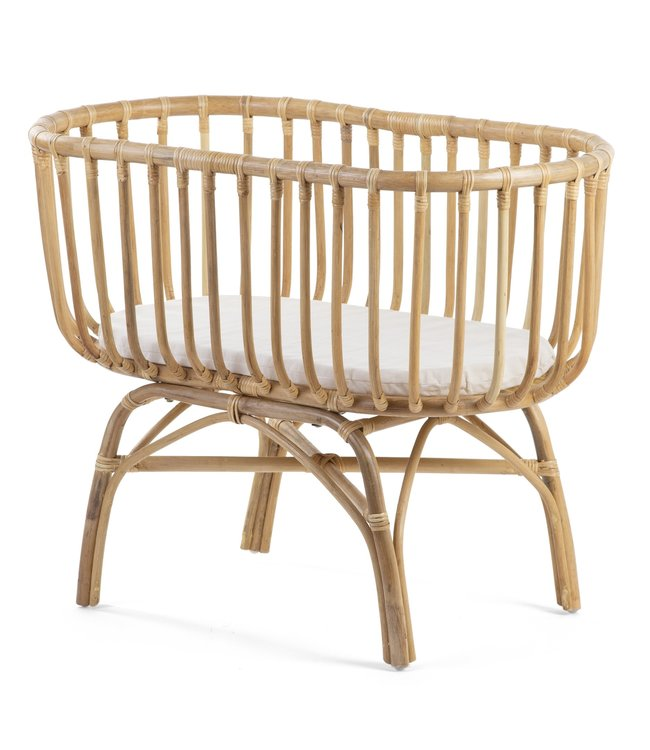 Childhome rattan crib incl. mattress