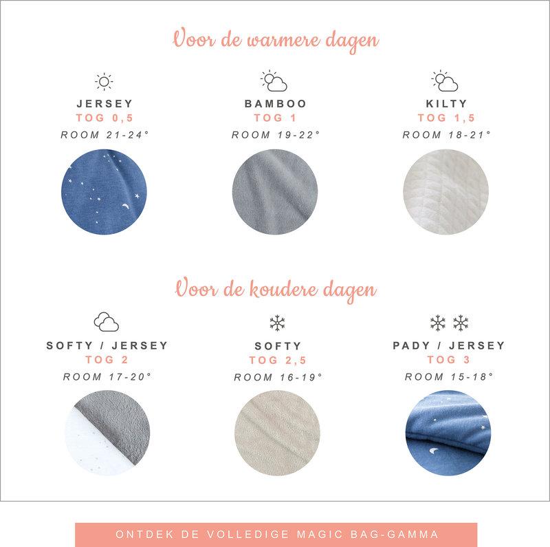 Bemini 9-24 mnd winterslaapzak Velvet Breeze blauw
