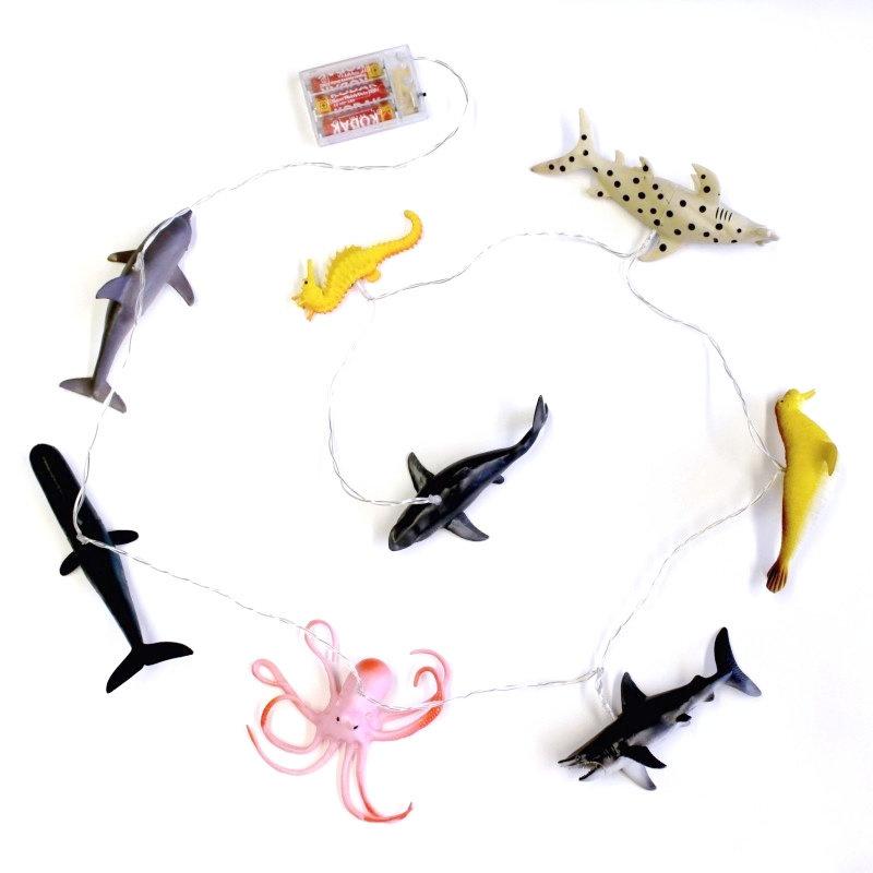 House of Disaster lampjes slinger met zee dieren
