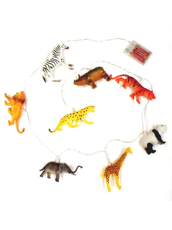 House of Disaster String Lights With Safari Animals