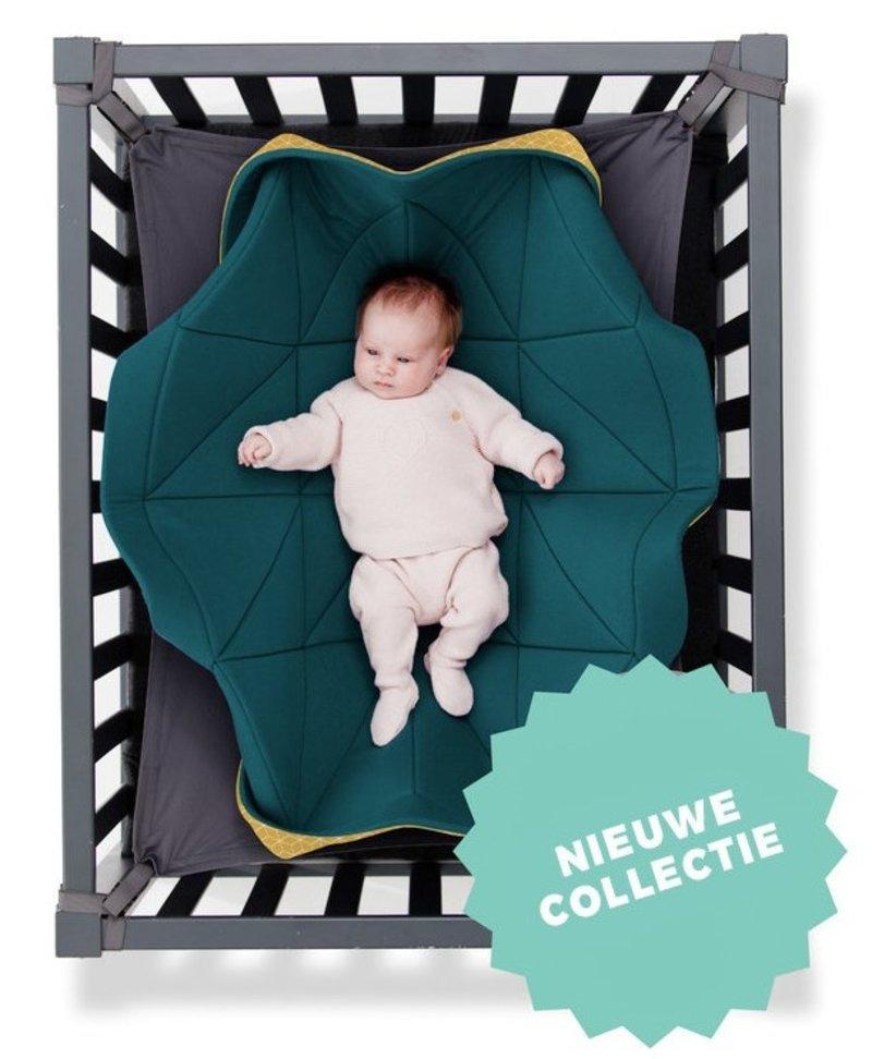 Hangloose Baby Baby hangmat Petrol Okergeel - 98  x 78 cm