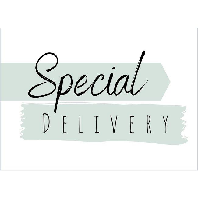 Ik Ben Zo Mooi gratis wenskaart Special Delivery groen