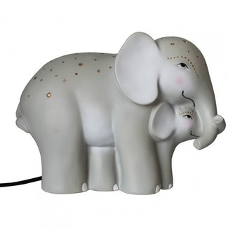 House of Disaster nachtlamp Mother and baby elephant