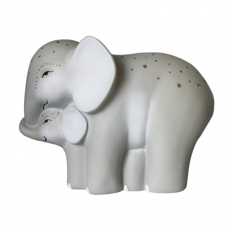 House of Disaster nachtlamp moeder en baby olifant