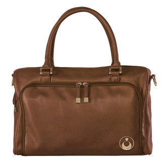 Isoki Luiertas Isoki Double Zip Satchel Chestnut Redwood
