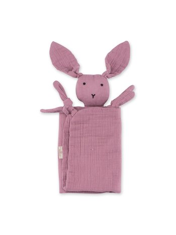 Bemini Knuffeldoekje Speendoekje Baby Konijn Bunny Berry 40 x 40 cm