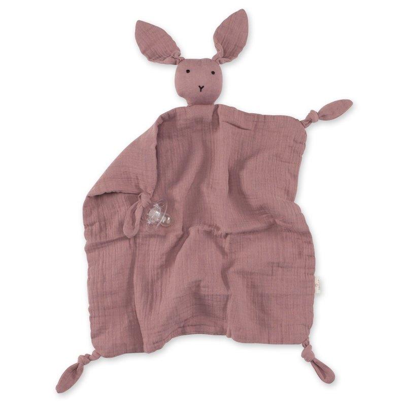 Bemini Knuffeldoekje bunny oud roze 70 x 70cm