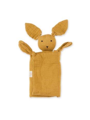 Bemini Knuffeldoekje Speendoekje Baby Konijn Golden Goud Geel 40 x 40 cm