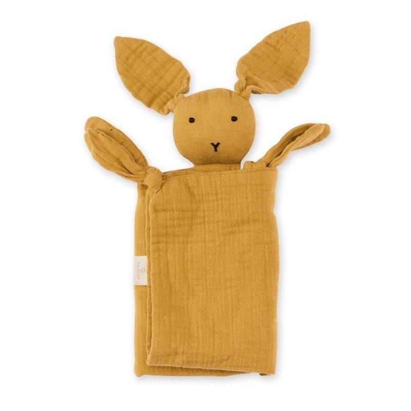 Bemini Knuffeldoekje bunny okergeel 70 x 70cm