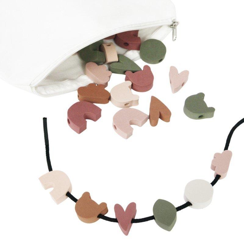 vanPauline Rijgkralen Groot Foam (72 stuks) met Etui - voor Peuters / Kleuters / Kinderen vanaf 3 jaar - Verjaardag cadeau meisje 3 jaar / 4 jaar / 5 jaar - Multicolour