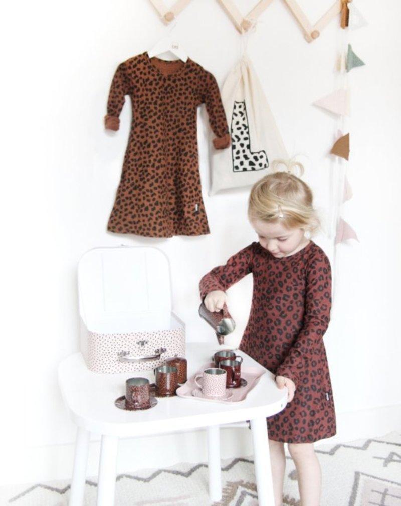 vanPauline Kinder Serviesje / Speelservies / Theeset met Koffer - Verjaardag Cadeau meisje 3 jaar / 4 jaar / 5 jaar / 6 jaar