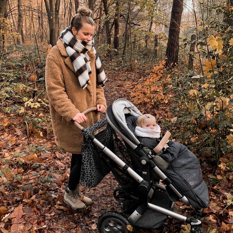 Your Wishes Mommy Tote Bag Melange - Grote Grijze Luiertas Luipaard Panter / Kinderwagen Luiertas / Verzorgingstas Baby / Boodschappentas
