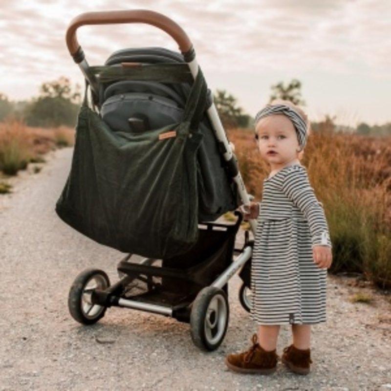 Your Wishes Mommy Tote Bag / Grote Luiertas Roze Meisje / Luiertas Kinderwagen / Verzorgingstas Baby / Boodschappentas - Boucle Oudroze