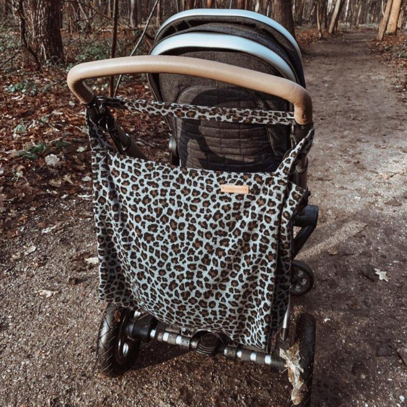 Your Wishes Mommy Tote Bag / Luiertas blauw / Kinderwagen Luiertas / Verzorgingstas Baby / Boodschappentas - Teddy donkerblauw