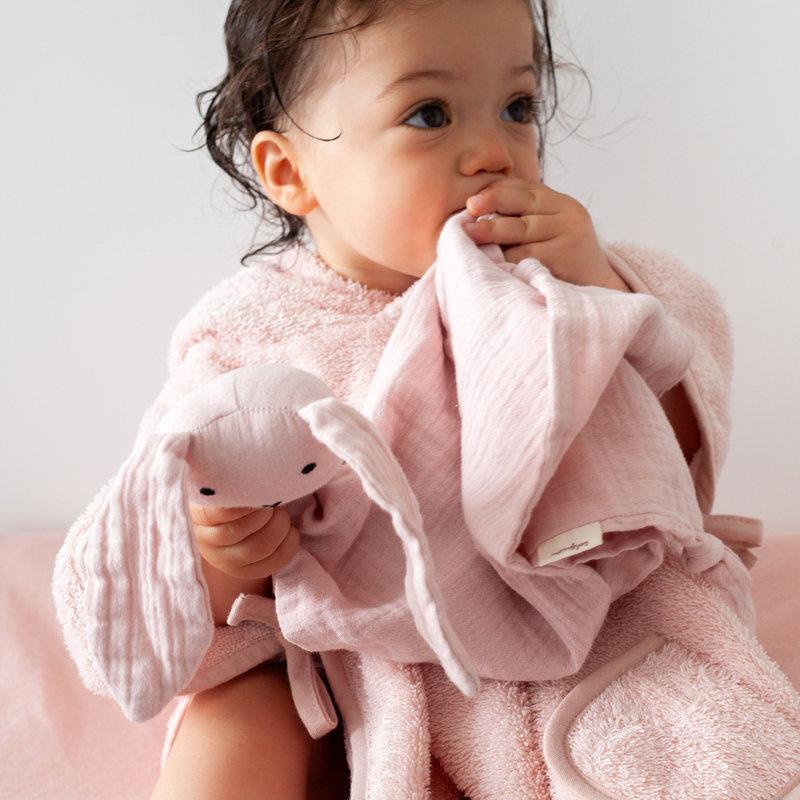 Bemini Knuffeldoekje Speendoekje Baby Konijn Berry Paars 40 x 40 cm