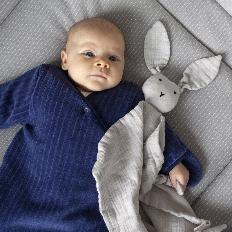 Bemini Knuffeldoekje bunny licht grijs 70 x 70cm