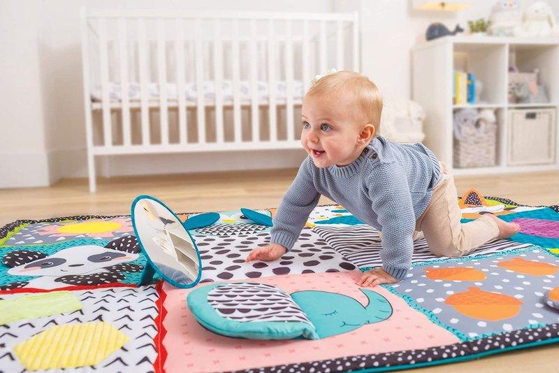 Infantino Infantino groot speelkleed baby / speeltapijt / speelmat - met olifant - met opbergtas - ruim 2 m2 speelplezier