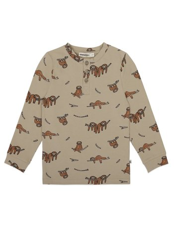 Ammehoela Kids Shirt Bas sloth sahara