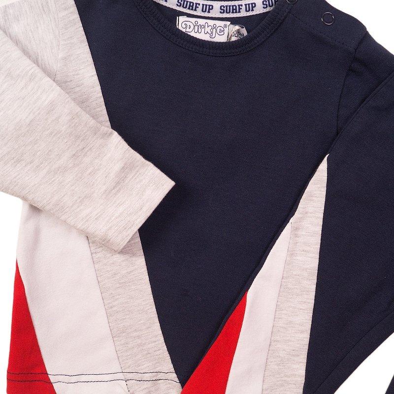 Dirkje 2-delig setje grijs/blauw/rood