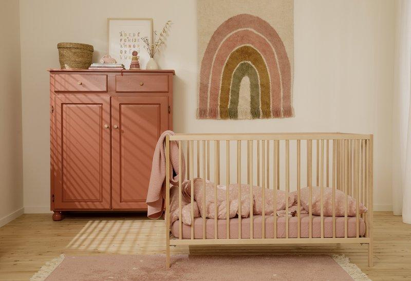 Little Dutch Vloerkleed/wandkleed regenboog roze 130x90cm