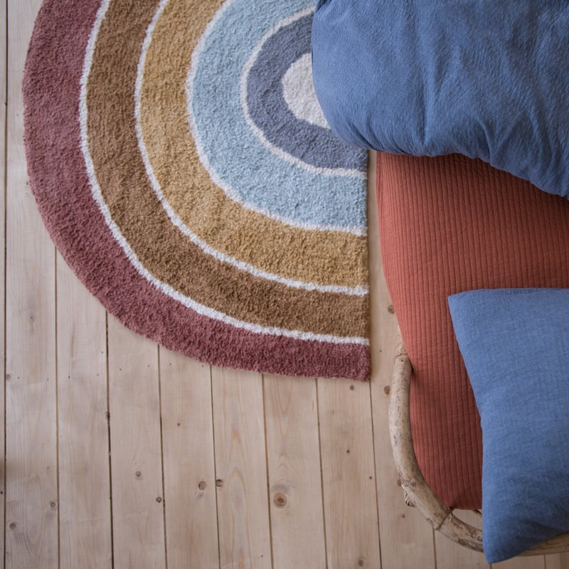 Little Dutch Vloerkleed Rainbow shape Pure & Nature 80x130cm