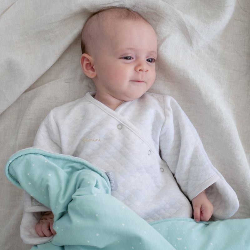 Bemini 0-3 mnd slaapzak beige Kilty Quilted tog 1.5 - voorjaar / zomer / herfst slaapzak pasgeboren baby