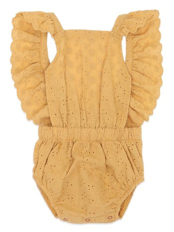 Ammehoela Kids onesie Minie mustard yellow