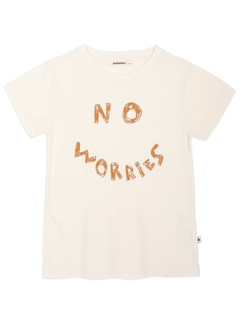 Ammehoela Kids Shirt Zoë Ivory 'no worries'