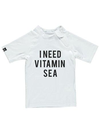 Beach and Bandits UV zwemshirt Vitamin Sea White