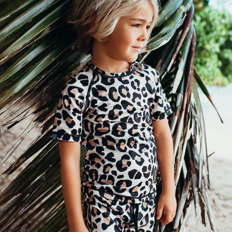 Beach and Bandits UV Zwemshirt Kinderen Jongen Meisje Leopard Shark - Korte mouw