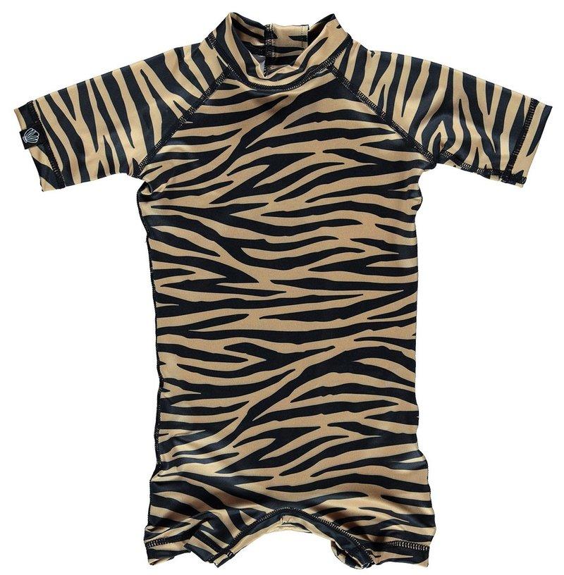 Beach and Bandits Baby UV pakje Tiger Shark bruin/zwart