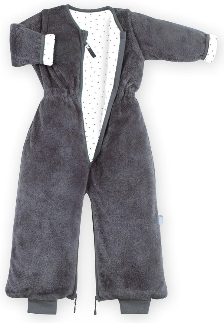 Bemini 9-24 mnd winterslaapzak Softy Jersey grijs Pingu