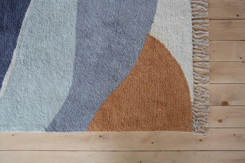 Little Dutch Vloerkleed Wandkleed Kinderkamer Babykamer Horizon Blauw 130 x 90 cm