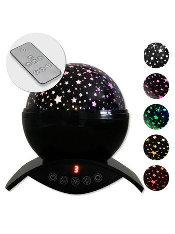 Ik Ben Zo Mooi sterrenprojector / galaxy projector / sterrenhemel projector / sterren lamp - populair LED nachtlampje baby en kinderen - draadloos tot 14 uur- zwart