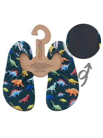 Slipstop Waterschoen Kinderen / Zwemschoenen / Zwemslof / Antislip Schoen / Gymschoen - Jongen - Dinosaurus Gekleurd