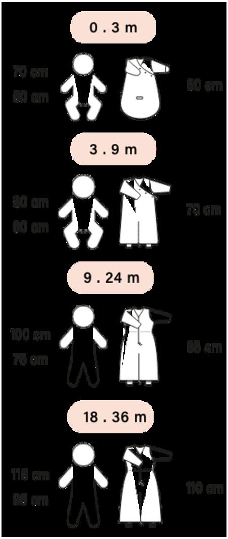 Bemini 9-24 mnd Zomerslaapzak Zonder Mouwen met Beentjes - Uni / Jongen / Meisje - 100% katoen - Dunes Taupe Streep Stip - 1.0 Tog