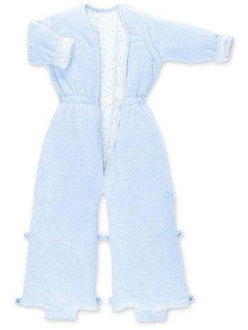 Bemini Bemini 18-36 mnd Warme Winterslaapzak Afritsbare Mouwen met Pijpjes / Beentjes - Softy Jersey Katoen Lichtblauw - 2.0 Tog
