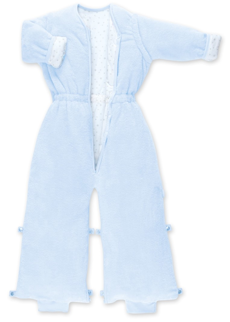 Bemini Bemini 18-36 mnd Warme Winterslaapzak Afritsbare Mouwen met Pijpjes / Beentjes - Softy Jersey Katoen Lichtblauw - 110 cm - 2.0 Tog
